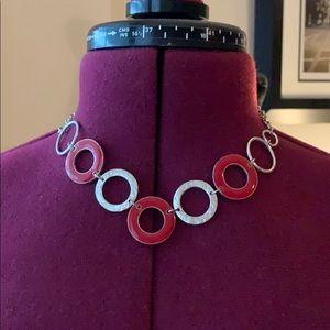 Red Liz Claiborne necklace